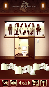 "screenshot of 100 Toilets ""room escape game"" version 1.1.11"