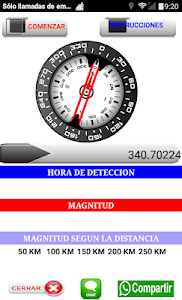 screenshot of ALERTA TERREMOTO 3.0 version 62.0