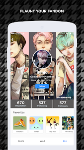 screenshot of ARMY Amino for BTS Stans version 1.1.6630