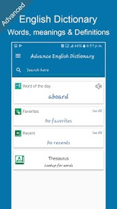 screenshot of Advanced English Dictionary: Meanings & Definition version 1.7