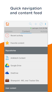 screenshot of Content - Workspace ONE version 3.16.0.17