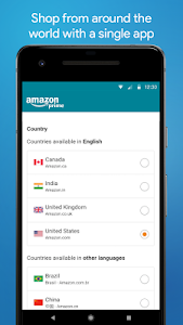 screenshot of Amazon Shopping version 18.6.0.100