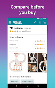 screenshot of Amazon Shopping - Search Fast, Browse Deals Easy version 18.21.2.100