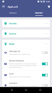screenshot of AppLock version 2.8.10