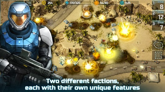 screenshot of Art of War 3: PvP RTS modern warfare strategy game version 1.0.80