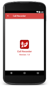 screenshot of Call Recorder version 1.1.1