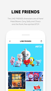 screenshot of LINE FRIENDS - characters / backgrounds / GIFs version 2.1.7