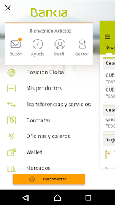 screenshot of Bankia version 5.5.6