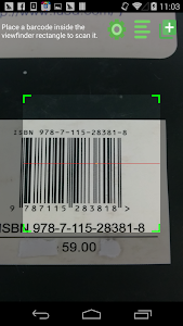 screenshot of Barcode Scanner Pro version 1.2.96