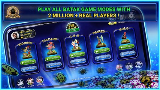screenshot of Batak Club: Online Batak Eşli Batak İhaleli Batak version 5.27.4