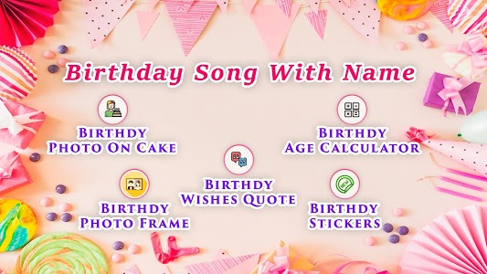 screenshot of Birthday Song with Name version 2.3