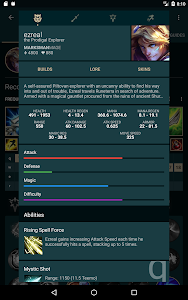 screenshot of Builds for LoL version 1.27.7