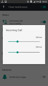 screenshot of Call Flash Light : flash on call and sms version 1.1.0