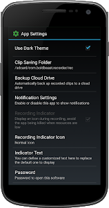 screenshot of Call Recorder version 11.9