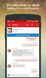 screenshot of Carousell: Snap-Sell, Chat-Buy version 2.1.1