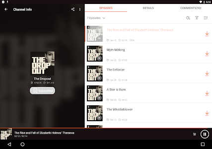 screenshot of Podcast Player & Podcast App - Castbox version 7.69.3-190611119