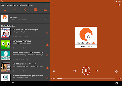 screenshot of Castbox: Free Podcast Player, Radio & Audio Books version 7.53.4-190207152