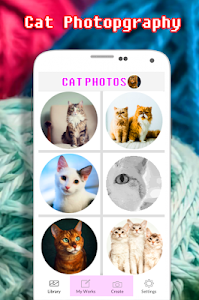 screenshot of Cat Photography Coloring Book - Color By Number version 2.0