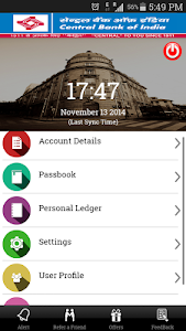 screenshot of Cent m-passbook version 1.10