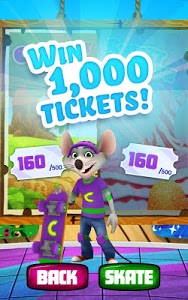 screenshot of Chuck E.'s Skate Universe version 1.12