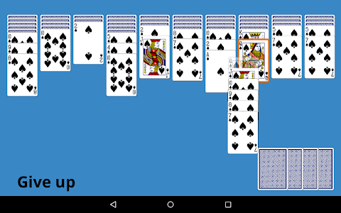 screenshot of Classic Spider Solitaire version 4.8
