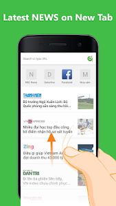screenshot of Cốc Cốc Browser version 70.4.214