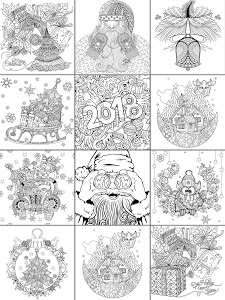 screenshot of 2019 Christmas Coloring Book version 3.0.5