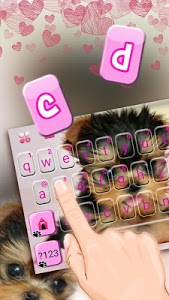 screenshot of Cute Tongue Cup Puppy Keyboard Theme version 1.0