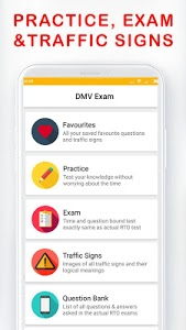 screenshot of DMV Permit Practice, Drivers Test & Traffic Signs version 8