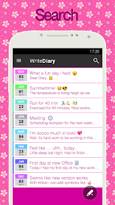 screenshot of Diary with lock version 4.90