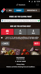 screenshot of Domino's version Varies with device