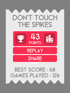 screenshot of Don't Touch The Spikes version 1.9.5