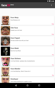 screenshot of Face Changer Video version Varies with device
