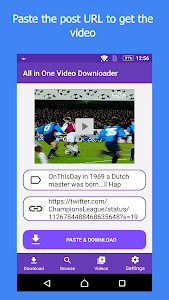 screenshot of All In One Video Downloader version 3.2