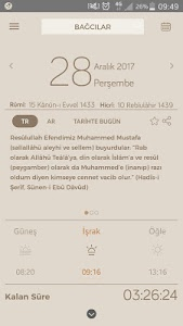 screenshot of Fazilet Takvimi Pro version 5.1.0