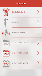 screenshot of Fitness & Bodybuilding version 2.5.2