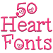 Fonts for FlipFont 50 Hearts