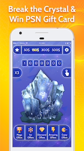 screenshot of Free Gift Cards for PSN Crystal Digger version 1.0
