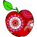 Fruits Color by Number: Healthy Coloring Book Page