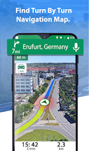 screenshot of GPS Route Maps & Navigation, Driving Directions version 1.2.5