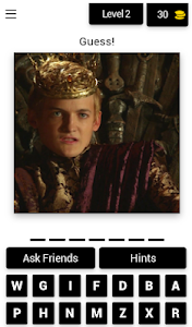 screenshot of QUIZ for Game Of Thrones version 3.1.9z