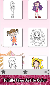 screenshot of Girls Glitter Color by Number - Fashion Coloring version 1.0