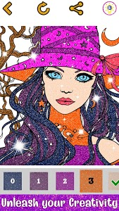screenshot of Girls Glitter Color by Number - Fashion Coloring version 2.3