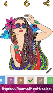 screenshot of Girls Glitter Color by Number - Fashion Coloring version 1.2