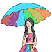 Girls Glitter Color by Number - Fashion Coloring