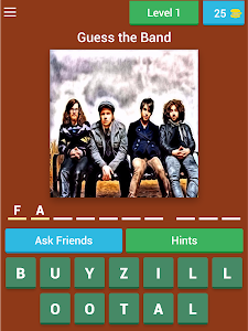 screenshot of Guess The Band Quiz Cash Prize Trivia version Varies with device