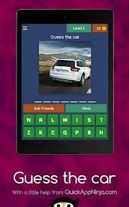 screenshot of Guess the car 2019 version 3.1.8z