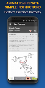 screenshot of Gym Exercises & Workouts version 3.06