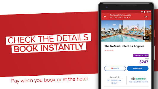 screenshot of Hotels.com: Book hotels, vacation rentals and more version 52.2.1.3.release-52_2