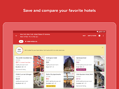 screenshot of Hotels.com: Book Hotel Rooms & Find Vacation Deals version 40.0.1.10.release-40_0